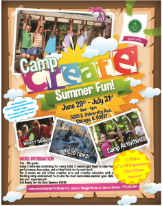 New and improved Summer Camp Flyer